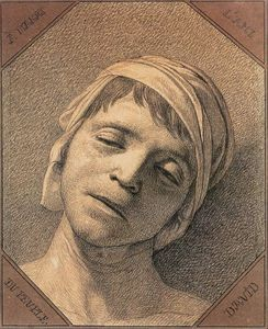 Jacques Louis David - Head of the Dead Marat