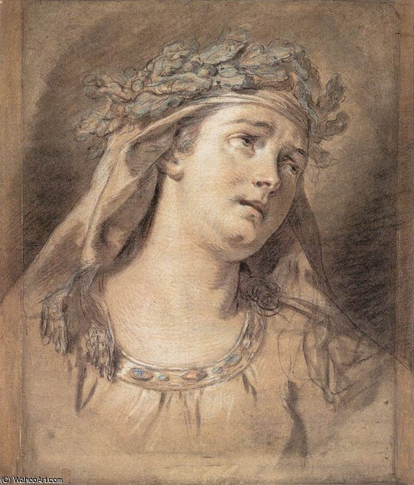 sorrow by Jacques Louis David (1748-1800, France) | Oil Painting | WahooArt.com
