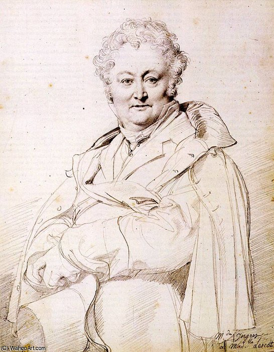 guillaume guillon lethiere by Jean Auguste Dominique Ingres (1780-1867, France)