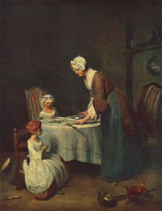 Jean-Baptiste Simeon Chardin - The Prayer before Me