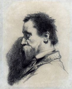 Jean-François Millet - portrait of a man said to be leopold desbrosses