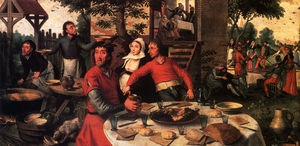 Pieter Aertsen - Peasants feast