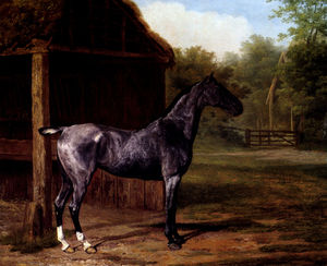 Jacques Laurent Agasse - Lord Rivers Roan Mare in a Landscape