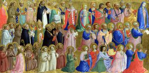 Fra Angelico - The Virgin Mary with the Apostles and Other Saints