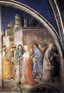 Fra Angelico - W,wall - st stephen distributing alms