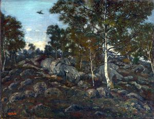 Antoine Louis Barye - The Forest of Fontainebleau