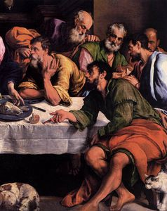 Jacopo Bassano (Jacopo Da Ponte) - The last supper (detail)1