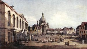 Bernardo Bellotto - Dresden - New Market Square in Dresden from the Jüdenhof