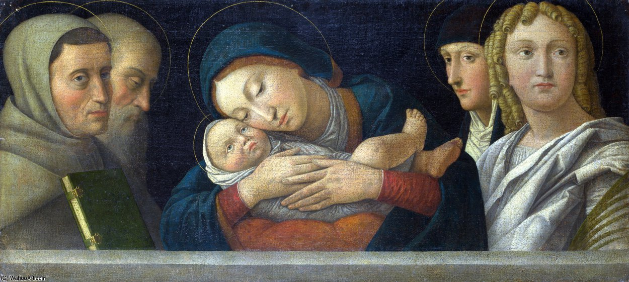 The Virgin and Child with Four Saints by Francesco Bonsignori (1460-1519, Italy)