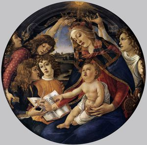 Sandro Botticelli - Madonna of the Magnificat (Madonna