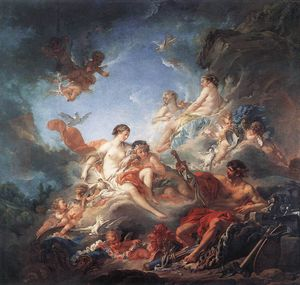 François Boucher - Vulcan Presenting Venus with Arms for Aeneas