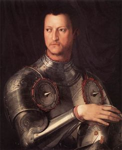 Agnolo Bronzino - 1.Portraits of the Medici - Cosimo I de- Medici in Armour