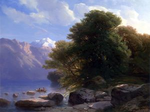 Alexandre Calame - The Lake of Thun