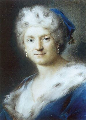 Self-Portrait as Winter by Rosalba Carriera (1675-1757, Italy)