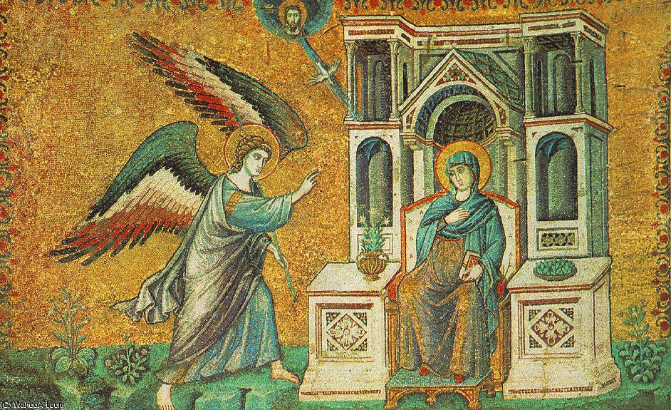 Annunciation by Pietro Cavallini (1240-1330, Italy)