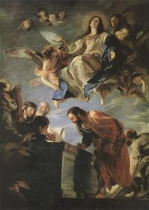 Mateo The Younger Cerezo - Mystic Marriage of St Catherine