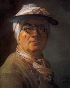 Jean-Baptiste Simeon Chardin - Self-Portrait with Eyeshade