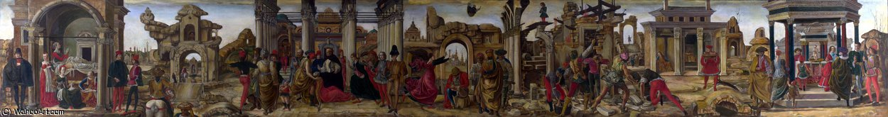 Order Reproductions | Scenes from the Life of Saint Vincent Ferrer by Francesco Del Cossa (1436-1477, Italy) | WahooArt.com