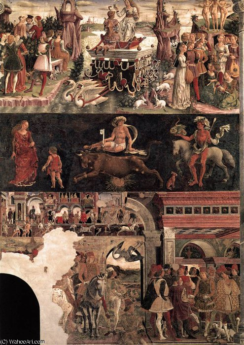 Schifanoia - April and May - Triumph of Venus by Francesco Del Cossa (1436-1477, Italy) | Art Reproduction | WahooArt.com