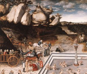 Lucas Cranach The Elder - Fountain of Youth (detail)