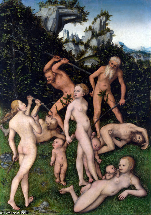 Close of the Silver Age by Lucas Cranach The Elder (1472-1553, Germany) | Paintings Reproductions Lucas Cranach The Elder | WahooArt.com
