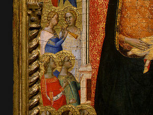 Bernardo Daddi - Madonna and Child with Saints and Angels d6