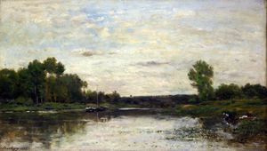Charles François Daubigny - View on the Oise