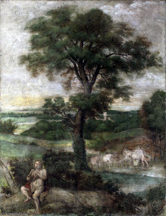 Mercury stealing the Herds of Admetus by Domenichino (Domenico Zampieri) (1581-1641, Italy) | WahooArt.com