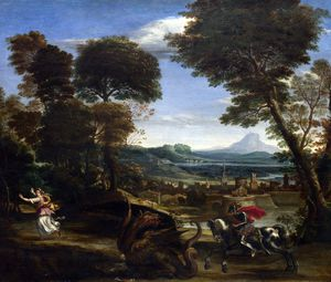 Domenichino (Domenico Zampieri) - Saint George killing the Dragon