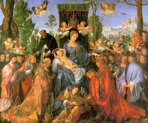 Albrecht Durer - Altarpiece of the Rose Garlands