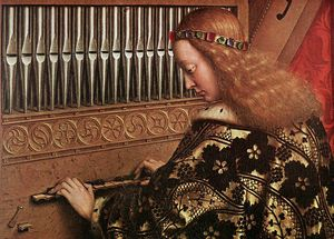 Jan Van Eyck - The Ghent Altarpiece Angels Playing Music d