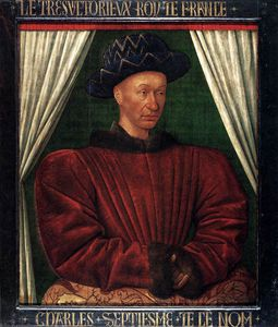 Jean Fouquet - Portrait of Charles VII of France