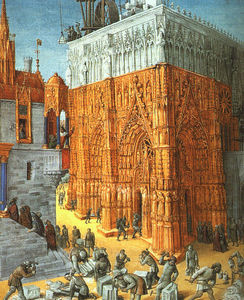 Jean Fouquet - The Building of a Cathedral
