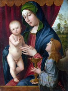 Francesco Francia (Francesco Raibolini) - The Virgin and Child with an Angel