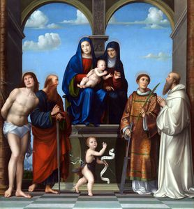 Francesco Francia (Francesco Raibolini) - The Virgin and Child with Saint Anne and Other Saints
