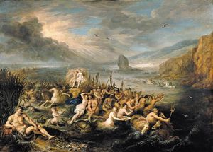 Frans Francken The Younger - Triumph of Neptune and Amphitrite
