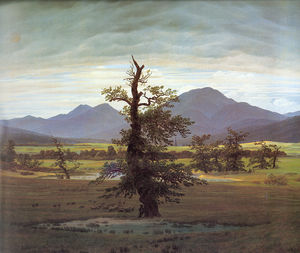 Caspar David Friedrich - Landscape with Solitary Tree