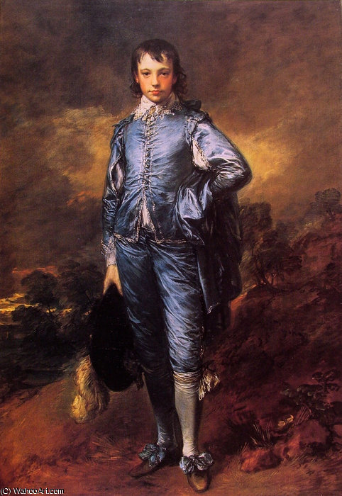 Portrait of Jonathan Buttall-The Blue Boy by Thomas Gainsborough (1727-1788, United Kingdom) | Oil Painting | WahooArt.com