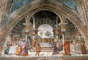 Domenico Ghirlandaio - 2.right wall - Herod's Banquet