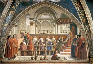 Domenico Ghirlandaio - frescoes - Confirmation of the Rule