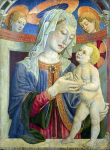 Giovanni Francesco Da Rimini - The Virgin and Child with Two Angels