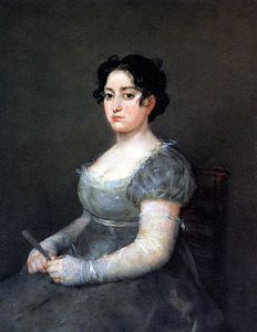 Francisco De Goya - Portrait of a Lady with a Fan