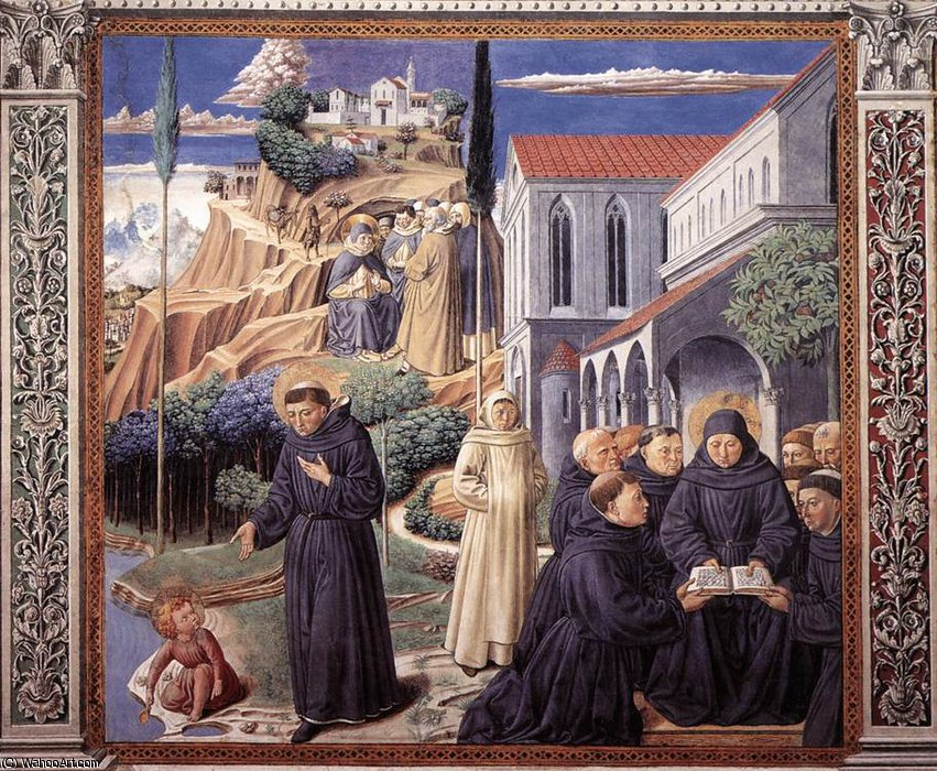 Untitled (291) by Benozzo Gozzoli (1420-1497, Italy) | Art Reproduction | WahooArt.com