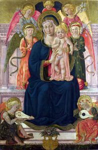 Benozzo Gozzoli - The Virgin and Child Enthroned with Angels