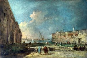 Francesco Lazzaro Guardi - A View near Venice