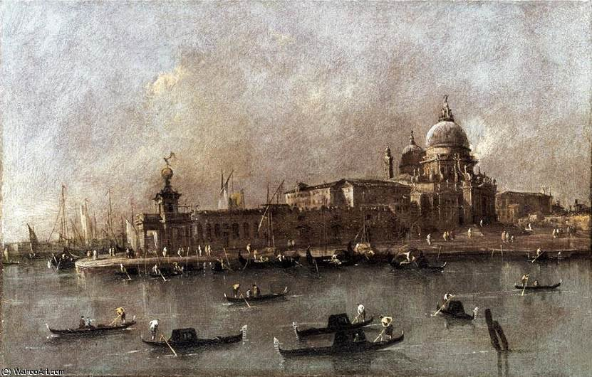 A View of the Entrance to the Grand Canal by Francesco Lazzaro Guardi (1712-1793, Italy)