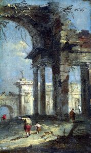 Francesco Lazzaro Guardi - Caprice View with Ruins