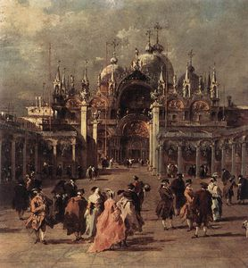 Francesco Lazzaro Guardi - Piazza di San Marco (detail)