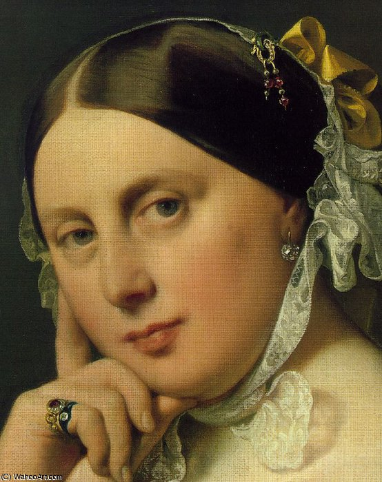 Delphine Ramel, Madame Ingres d2 by Jean Auguste Dominique Ingres (1780-1867, France)