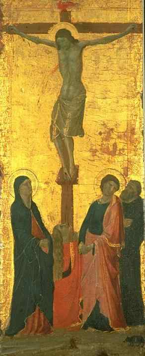 Crucifixion by Jacopo Del Casentino (Jacopo Landino) (1330-1380, Italy) | Famous Paintings Reproductions | WahooArt.com